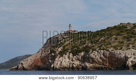 The lighthouse of Lastovo in Croatia