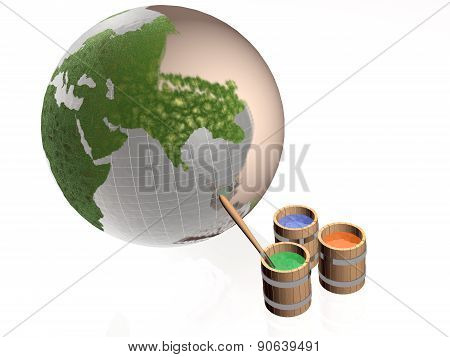 Paint Globe