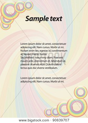 Funky Paper's Letter With Sample Text