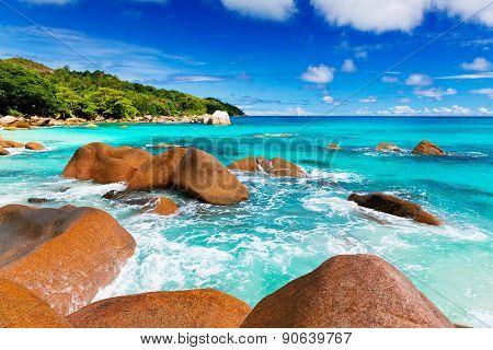 Anse Lazio beach, Praslin island