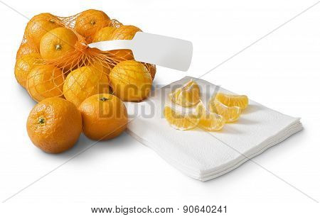 Tangerines, Clementines On White