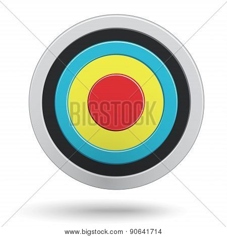 Colour Round Darts Target Aim Isolated On White