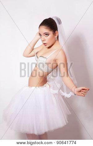 Portrait Of A Beautiful Bride In Veil
