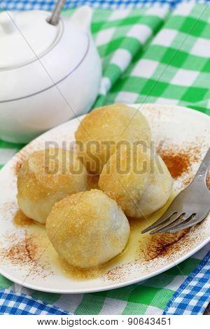 Sweet dumplings, closeup