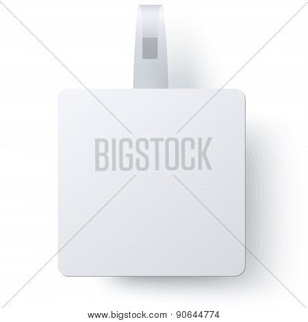Advertising Square Wobbler Isolated On White Background