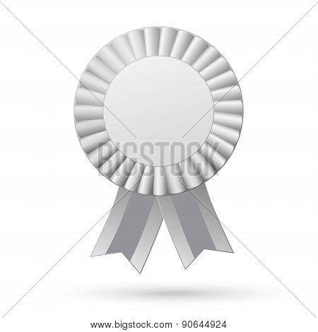 Ribbons Award Isolated On White Background