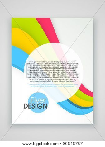 Stylish business flyer, template or brochure design.