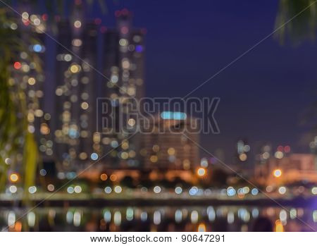 Colorful Bokeh City Light Up Background