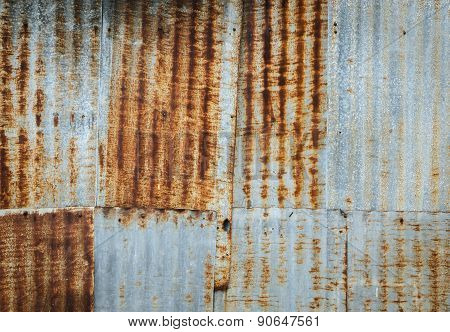 Rusty Corrugated Metal Wall