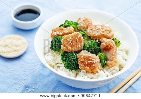 Teriyaki Chicken And Broccoli Stir Fry With Rice
