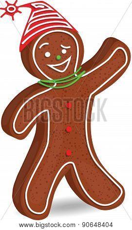 Santa Gingerbread man - Illustration