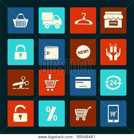 Vector Shopping Icons Set  - Illustration