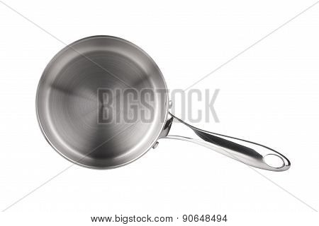 Stainless Steel Saucepan Isolated On White Background