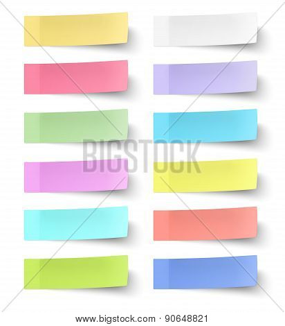 Colour Sticky Notes Isolated On White Background