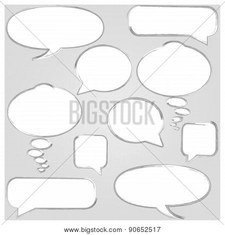 Set Of Frames, Vector Illustration