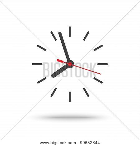 Clock Icon With Second Hand Isolated