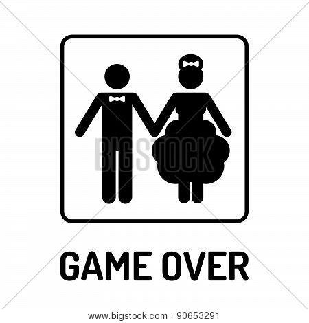 Cartoon Funny Wedding Symbol