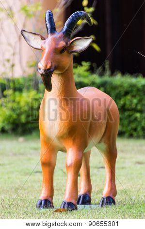 Goat Statue In Lawn