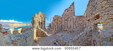 Old Fortress Ruins On Pag Island