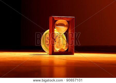 Sandglass and clocks