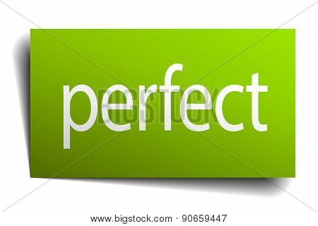 Perfect Square Paper Sign Isolated On White