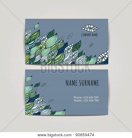 Vector Corporate Identity, Floral Pattern. Abstract Backdrop. Floral Id Template.