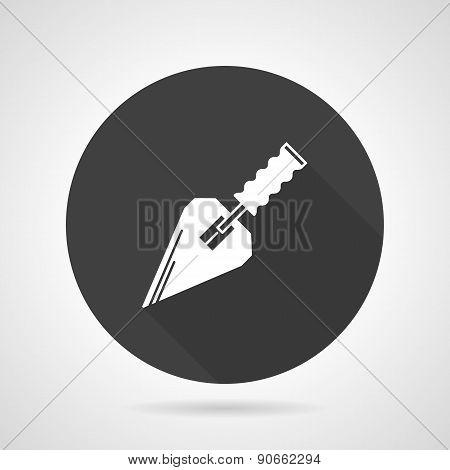 Trowel black round vector icon