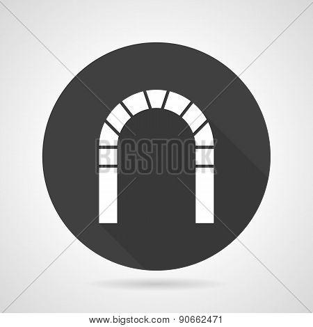 Round arch black vector icon