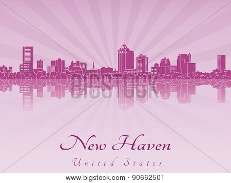 New Haven Skyline In Purple Radiant Orchid