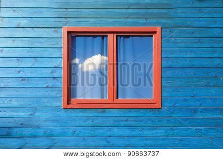 Wooden blue facade