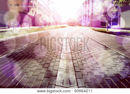 Abstract street floor background.