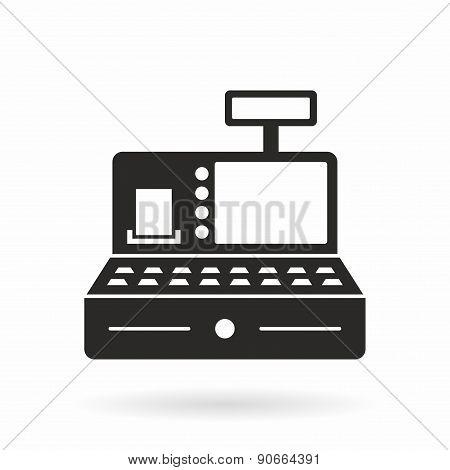 Cash register machine icon