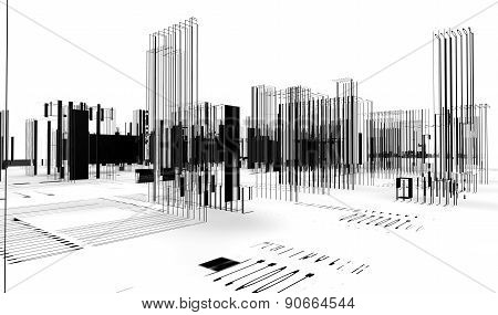 3d Abstract architecture