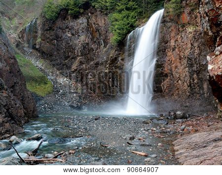 Franklin Falls, a Waterfall in the Pacific Northwest