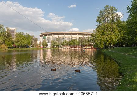 Pond In Catherine Park And Olympic Stadium