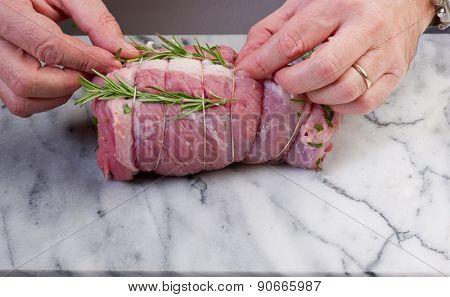 filled roast preparation