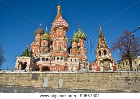 Moscow, Cathedral Of Saint Basil.