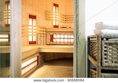 Modern Sauna In The Residence