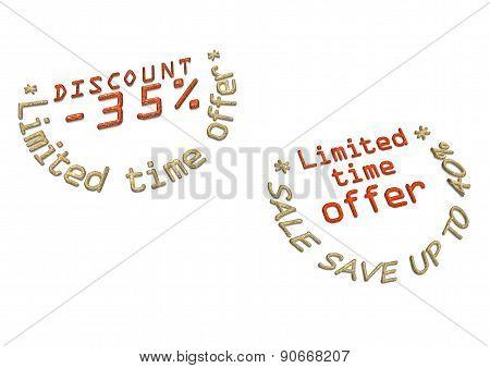 Three-dimensional Inscription Discount As A Label