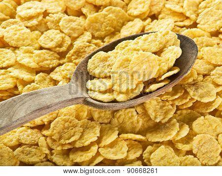Cornflakes. Food background.
