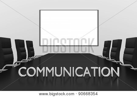 Conference Room Large Whiteboard Communication Symbol On Desk