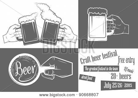 Beer Festival Two-color Poster.