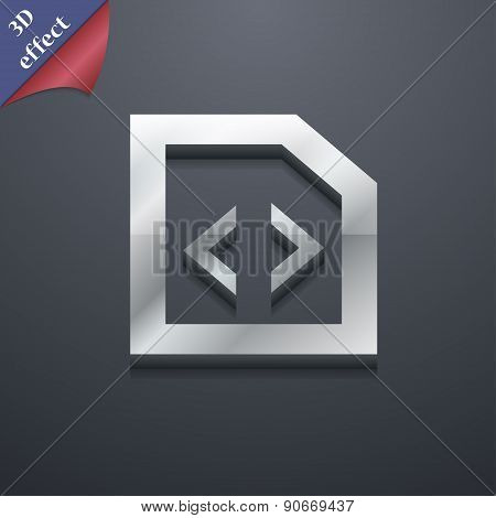 Programming Code Icon Symbol. 3D Style. Trendy, Modern Design With Space For Your Text Vector