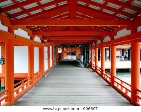 Itsukoshima Shrine In Miyajima, Japan