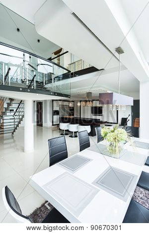 Luxurious And Spacious Interior Of Residence