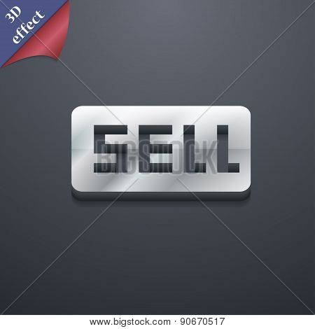 Sell, Contributor Earnings Icon Symbol. 3D Style. Trendy, Modern Design With Space For Your Text Vec