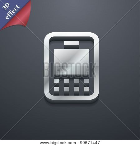 Mobile Telecommunications Technology Icon Symbol. 3D Style. Trendy, Modern Design With Space For You