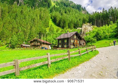 Country road to an alpine house, Austria
