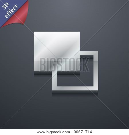 Active Color Toolbar Icon Symbol. 3D Style. Trendy, Modern Design With Space For Your Text Vector