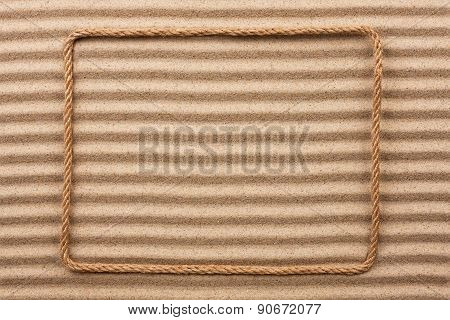 Frame Made Of Rope  On The Sand